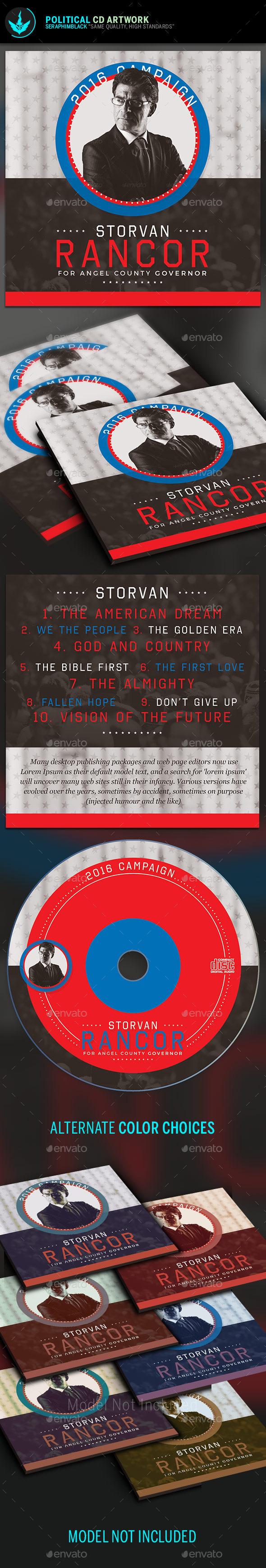 Political CD Artwork Template - CD & DVD Artwork Print Templates