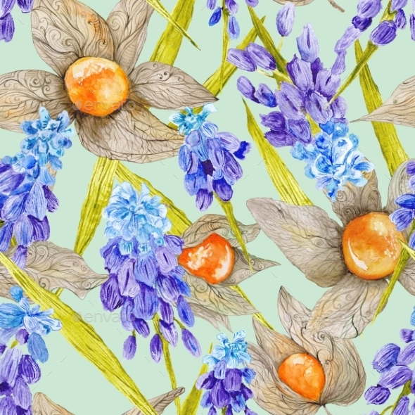 Provence Watercolor Pattern - Backgrounds Decorative