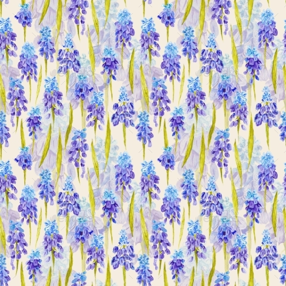 Vintage Watercolor Provence Pattern - Backgrounds Decorative