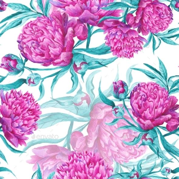Romantic Watercolor Pattern - Backgrounds Decorative