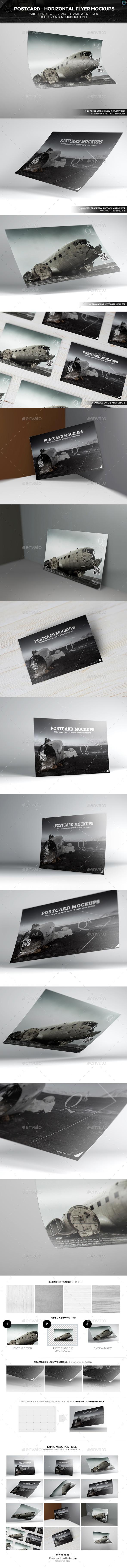 Postcard - Horizontal Flyer Mockups - Miscellaneous Print