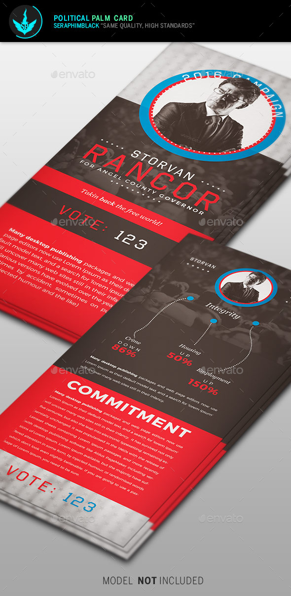 Political Palm Card Template - Corporate Flyers