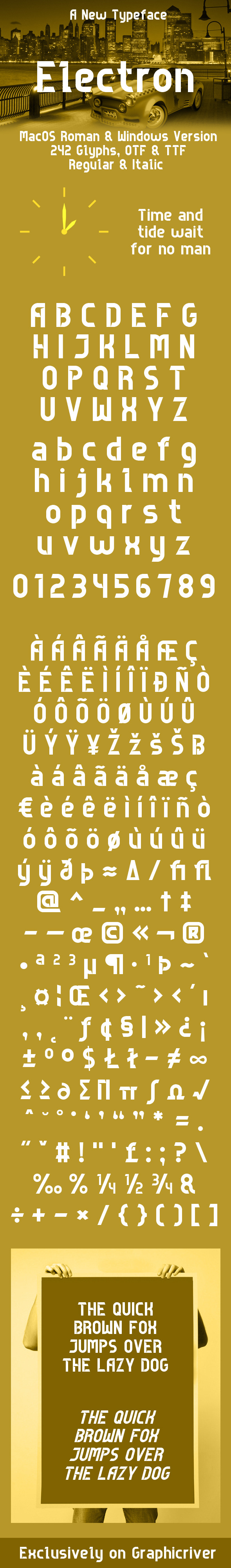 Electron Typeface - Sans-Serif Fonts
