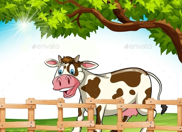 A Cow Smiling - Animals Characters
