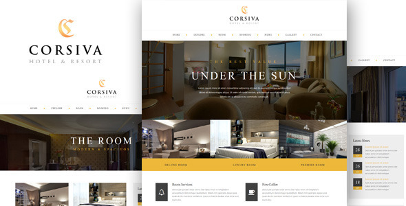 Corsiva – Responsive Hotel Website Template