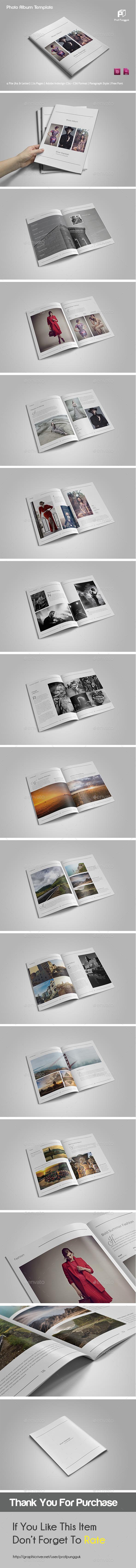 Simple Photo Album Template - Photo Albums Print Templates