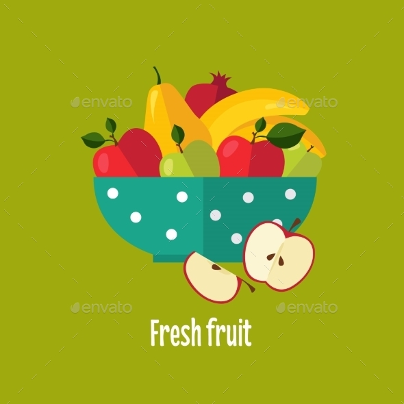 Salad From Fruit And Berries - Food Objects