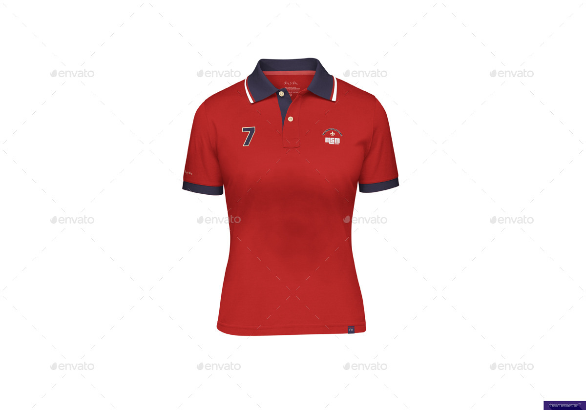 Polo shirt for men women kids mock up by mesmeriseme for Free polo shirt mockup
