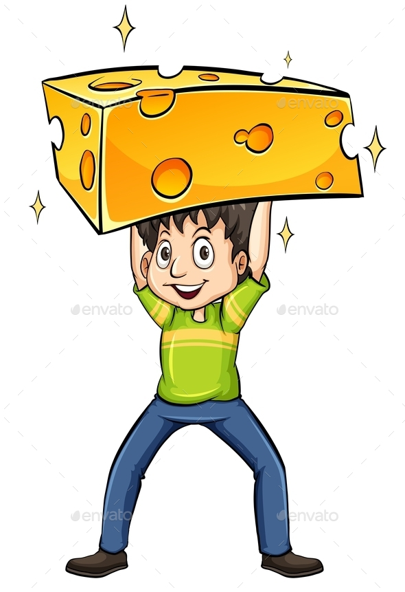 Man Carrying a Cheese - People Characters
