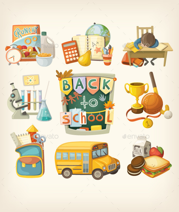 Back to School Set - Miscellaneous Vectors