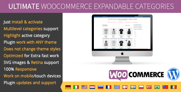 Ultimate WooCommerce Expandable Categories - CodeCanyon Item for Sale