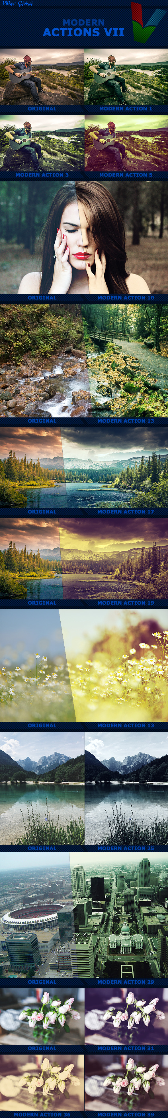 40 Modern Actions VII - Photo Effects Actions