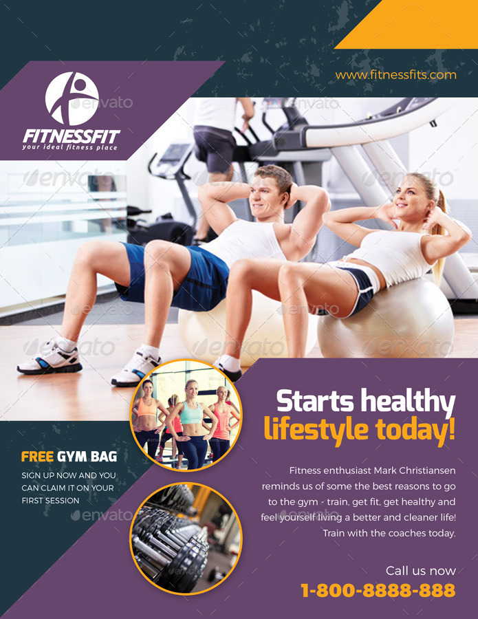 Sport & Fitness Flyer Vol.08 By Kitcreativestudio2 | Graphicriver