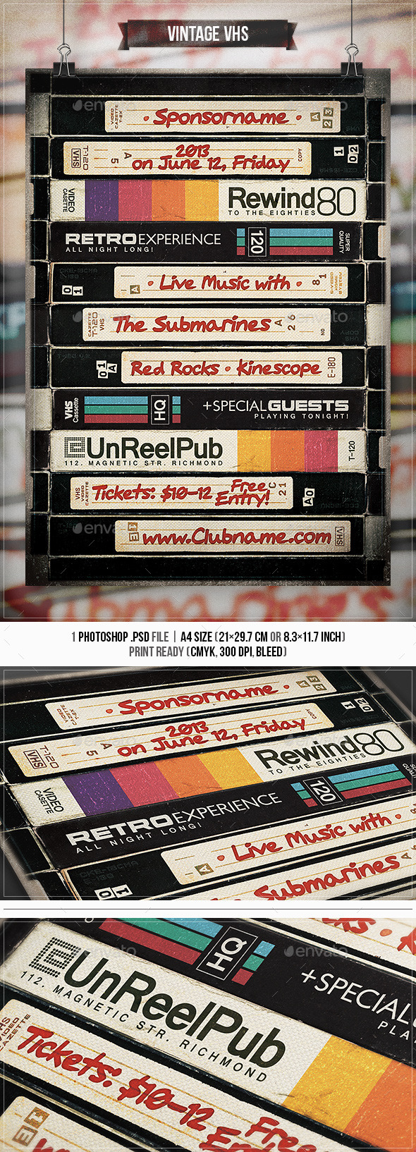 Vintage VHS - Flyer & Poster - Concerts Events