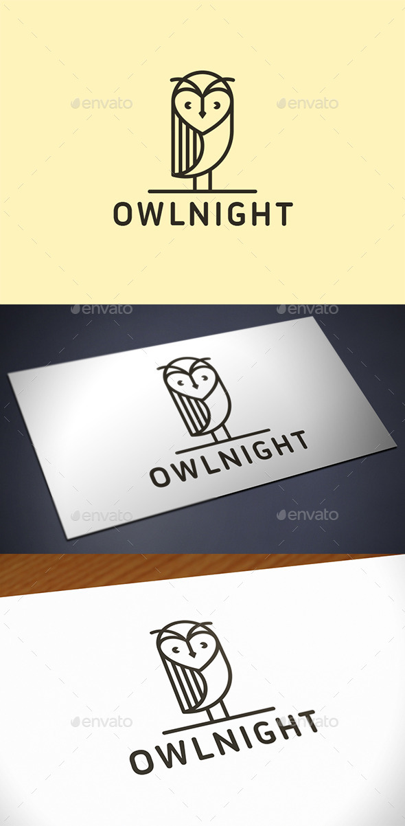 Owl Logo Template - Animals Logo Templates