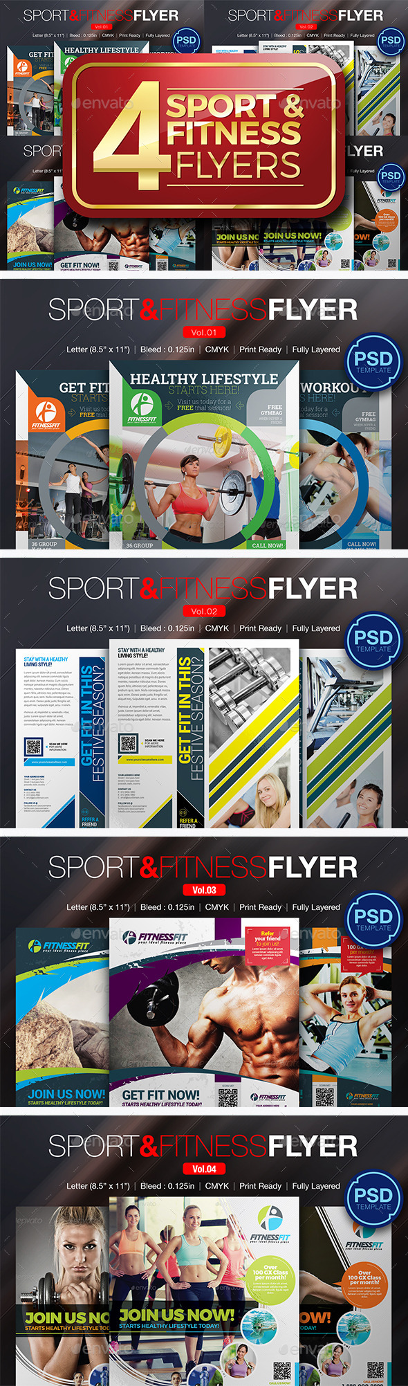 Sport & Fitness Flyer Bundle - Sports Events