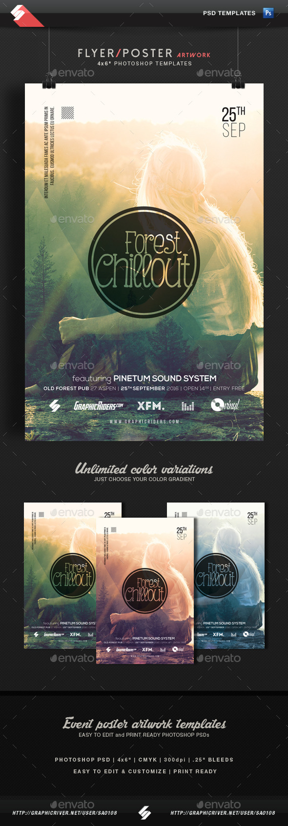 Forest Chillout - Event Flyer Template - Concerts Events