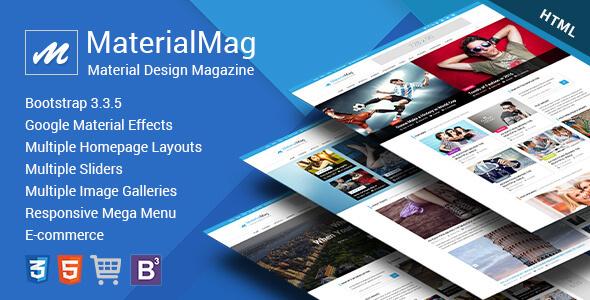MaterialMag – Material Design Responsive Template