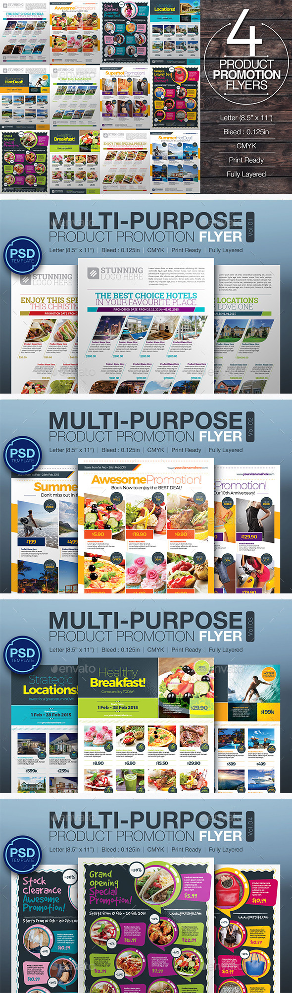 Product Promotion Flyer Bundle - Commerce Flyers