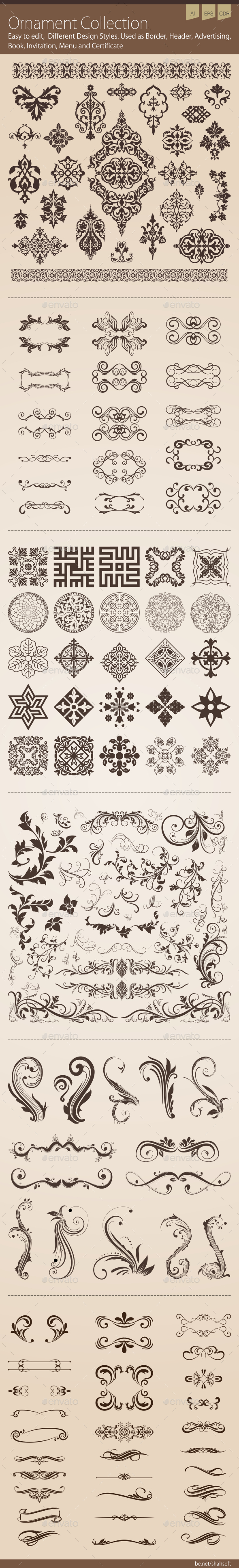 Ornament Collection - Flourishes / Swirls Decorative