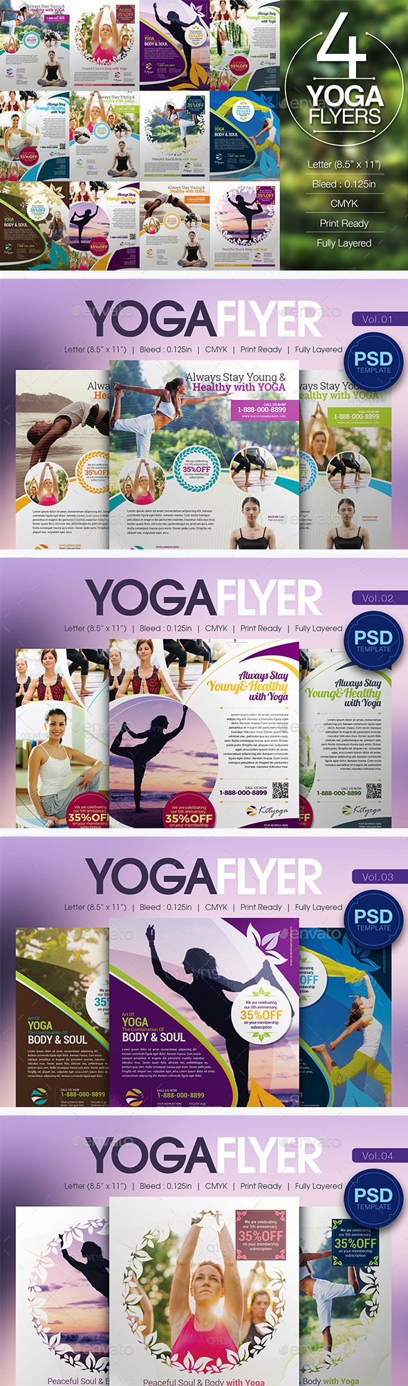 Yoga Flyer Bundle - Miscellaneous Events