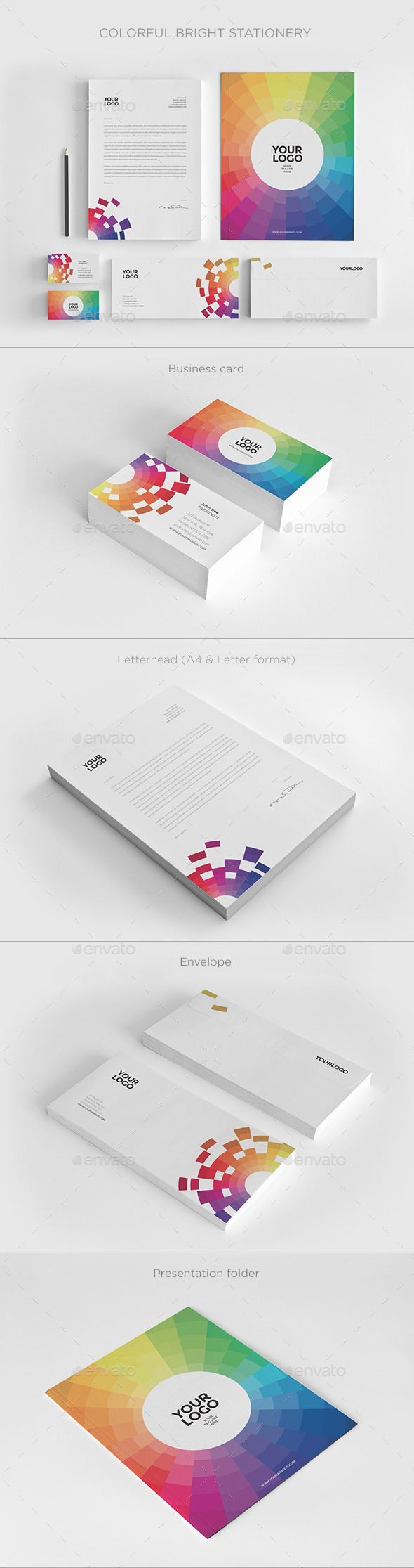 Colorful Bright Stationery - Stationery Print Templates