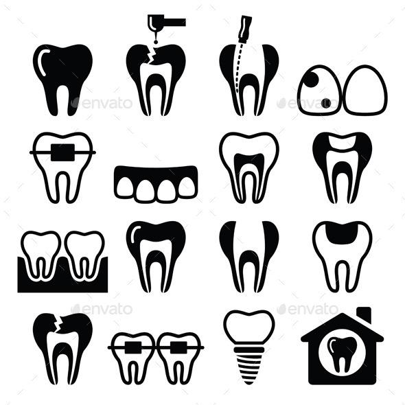 Dental Icons Set      - Health/Medicine Conceptual