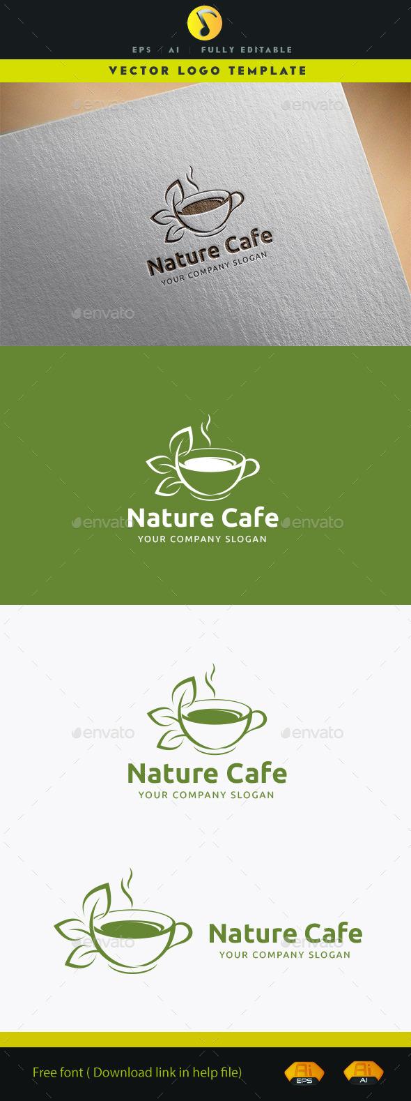 Nature Cafe - Food Logo Templates