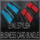 2 IN 1 Stylish Business Card Bundle - GraphicRiver Item for Sale