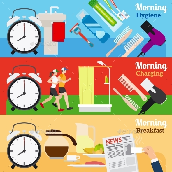 Good Morning New Day Banners - Miscellaneous Vectors