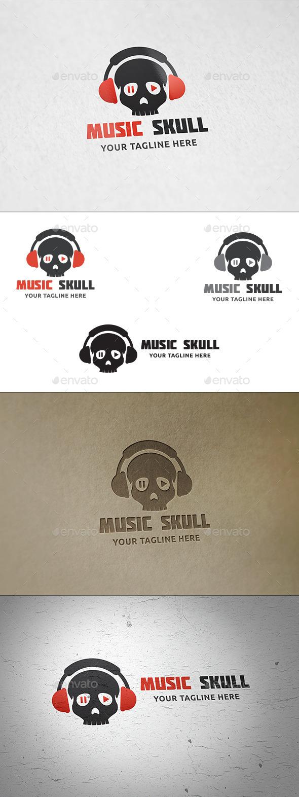 Music Skull - Logo Template - Symbols Logo Templates