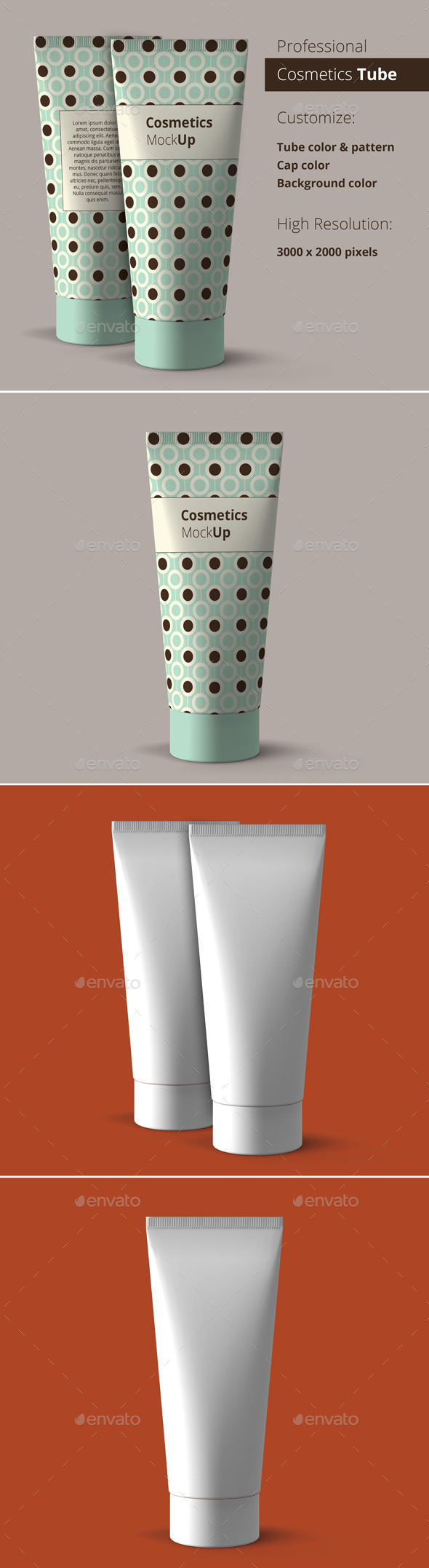 Cosmetics Tube Mockup - Beauty Packaging