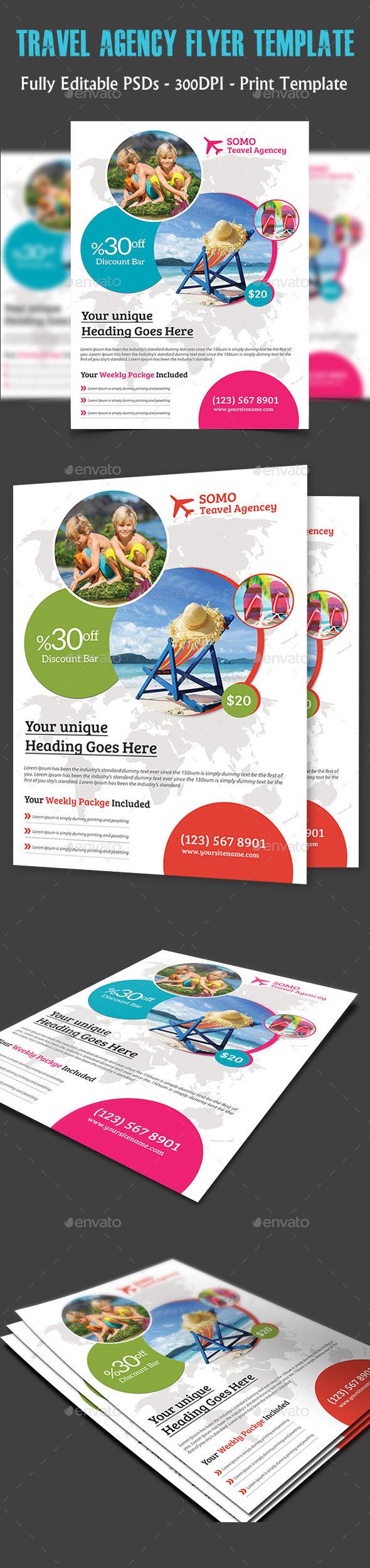 Travel Agency Flyer - Flyers Print Templates