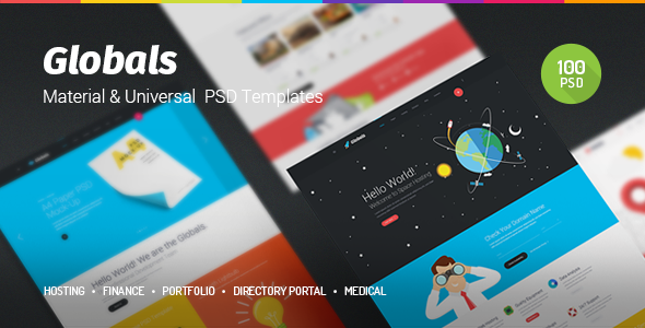 Globals – Material & Universal PSD Template nulled