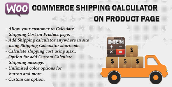Woocommerce Shipping Calculator On Product Page - CodeCanyon Item for Sale