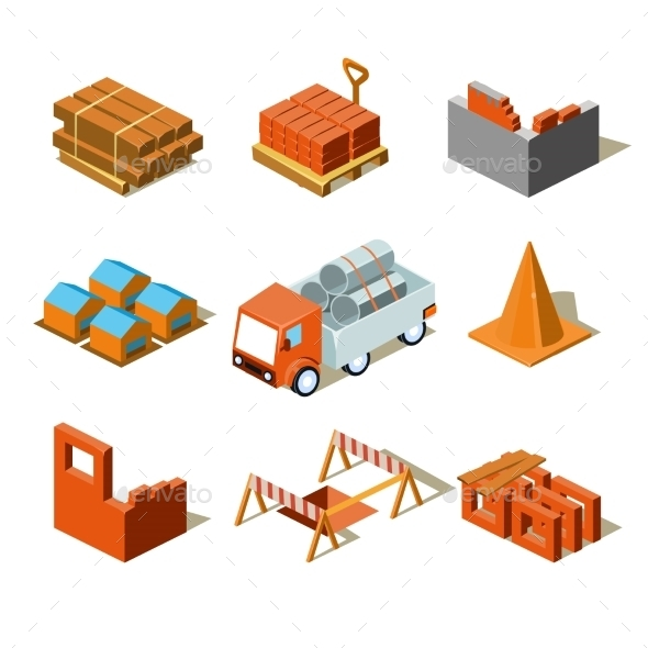 Construction Project Infographic - Man-made Objects Objects