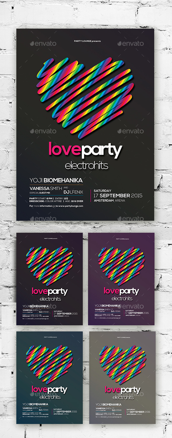 Love Flyer / Poster Vol. 01 - Clubs & Parties Events