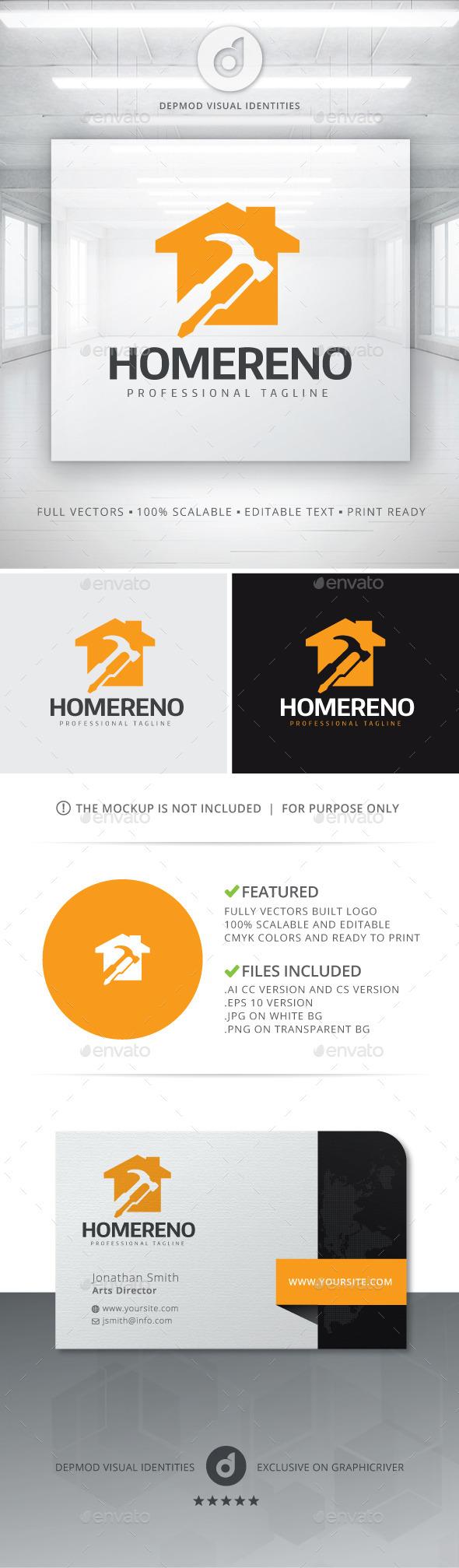 Home Reno Logo - Buildings Logo Templates