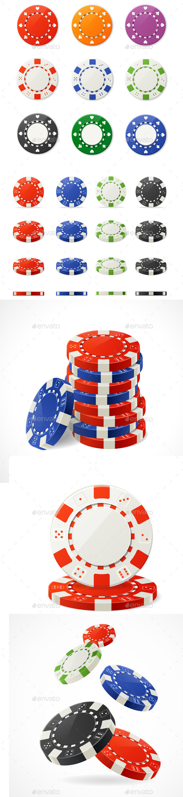 Poker Chips Set - Man-made Objects Objects