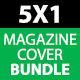 5 in 1 Magazine Covers Bundle - GraphicRiver Item for Sale