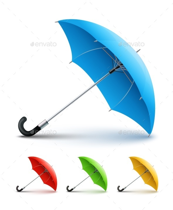 Umbrellas Color Set - Man-made Objects Objects