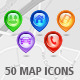 50 Glossy Location Markers with Icons - GraphicRiver Item for Sale