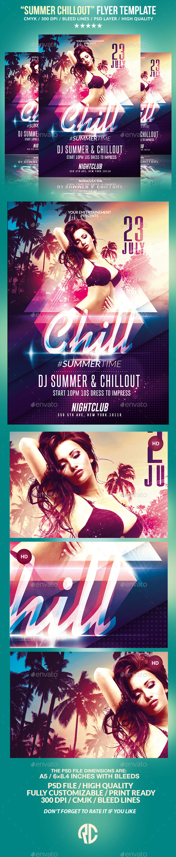 Summer Chillout Party | Psd Flyer Template - Events Flyers