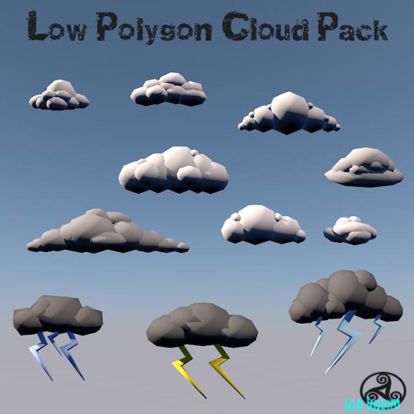 LowPolygon_Cloud_Set - 3DOcean Item for Sale
