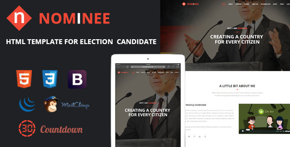 Nominee – Template for Candidate/Political Leader