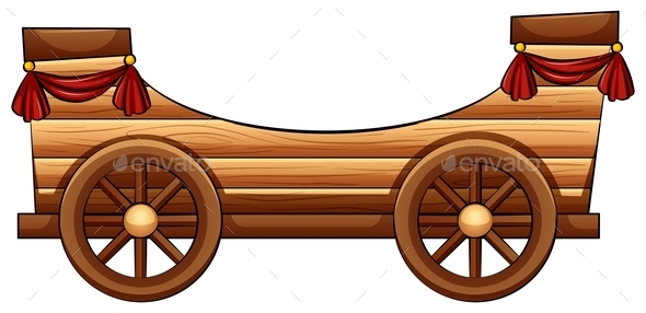 Improvised Wooden Bandwagon - Man-made Objects Objects