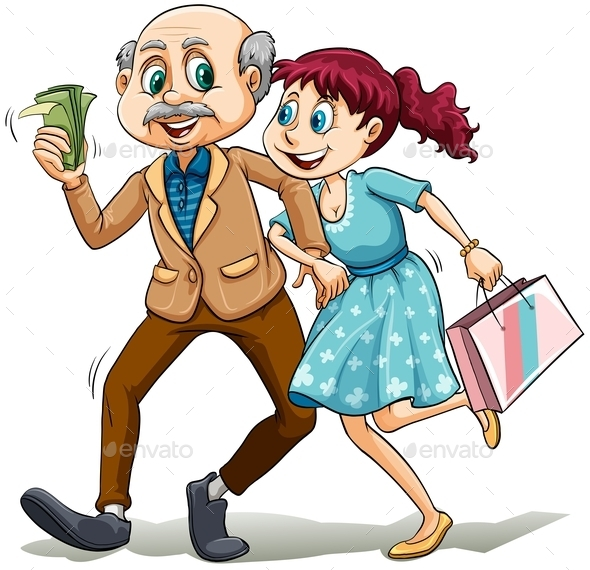 Young Lady with Her Sugar Daddy - People Characters