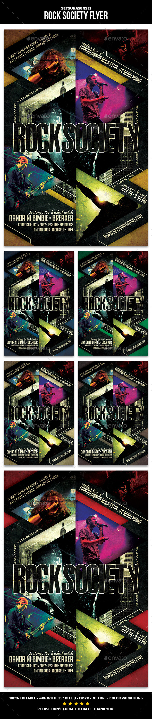 Rock Society Flyer - Concerts Events