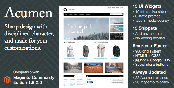 Acumen – The Highly Extensible Magento Theme