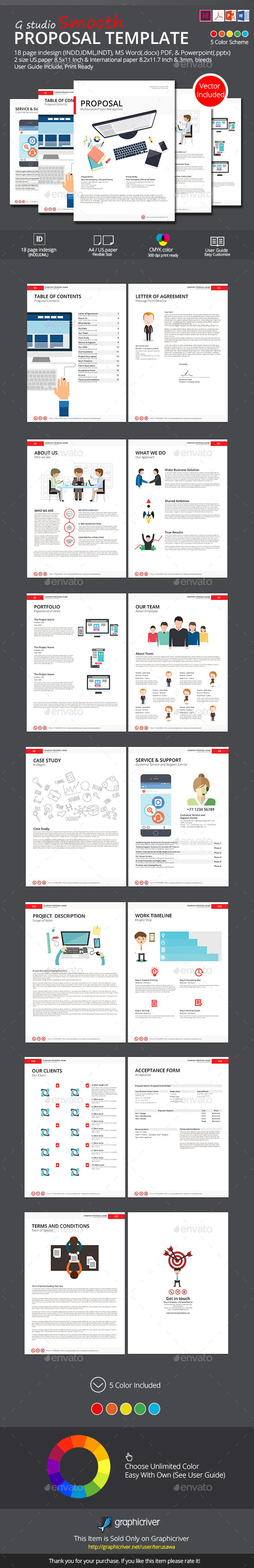 Smooth Proposal Template - Proposals & Invoices Stationery